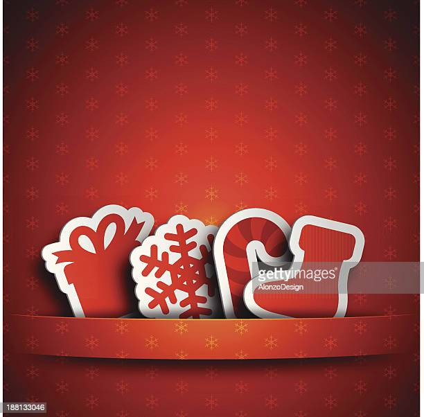 red christmas tags - luggage tag stock illustrations, clip art, cartoons, & icons