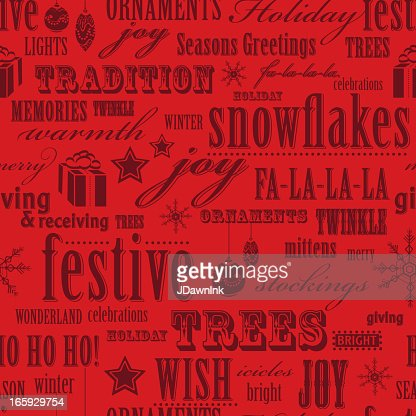 red christmas words repeat seamless pattern background vector art getty images