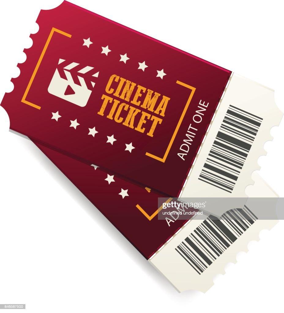 Red cinema tickets