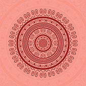 Red Circle Lace Ornament