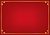 red circle pattern chinese abstract background