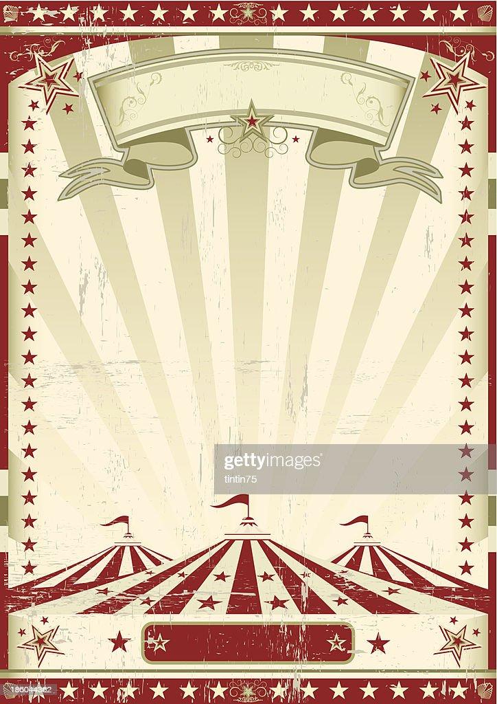 Red circus retro