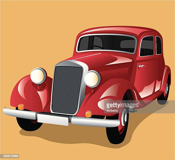 red classic car - low rider stock illustrations