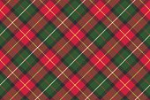 Red classic plaid pixel texture seamless pattern