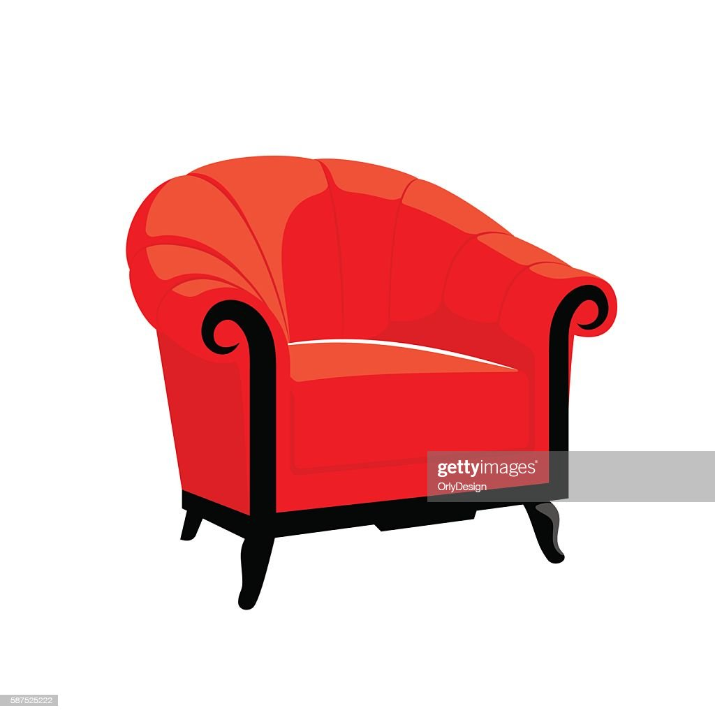 Red Classic Royal armchair