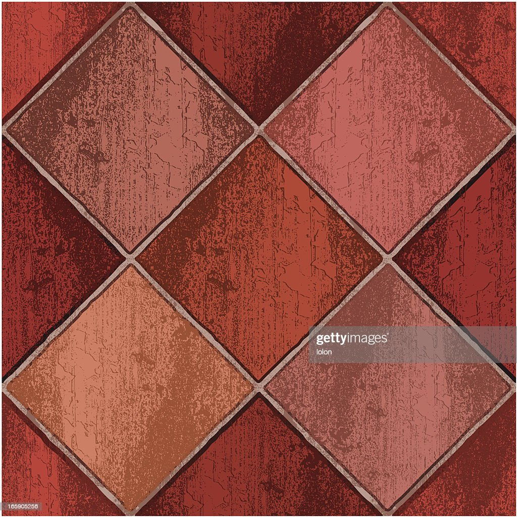 Red clay floor tiles vector art getty images red clay floor tiles dailygadgetfo Images