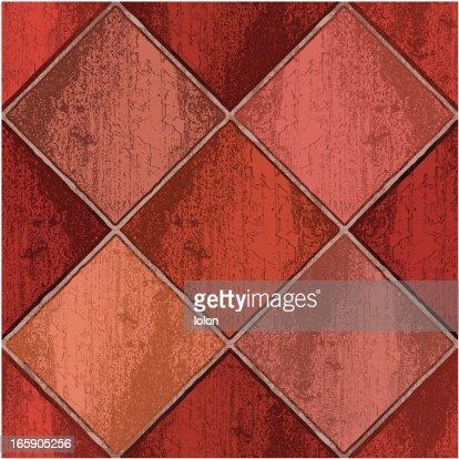 Red Clay Floor Tiles Vector Art Getty Images