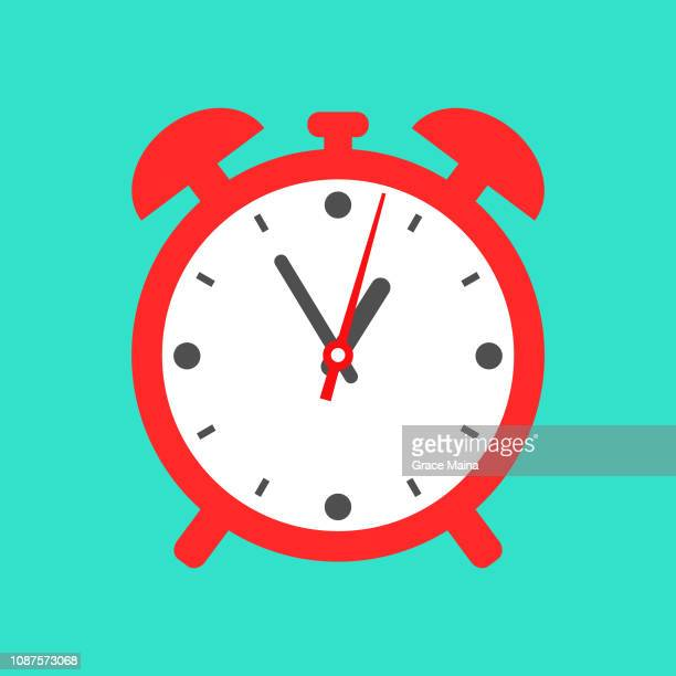 Red clock timer or stopwatch showing time