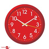 Red clock vector
