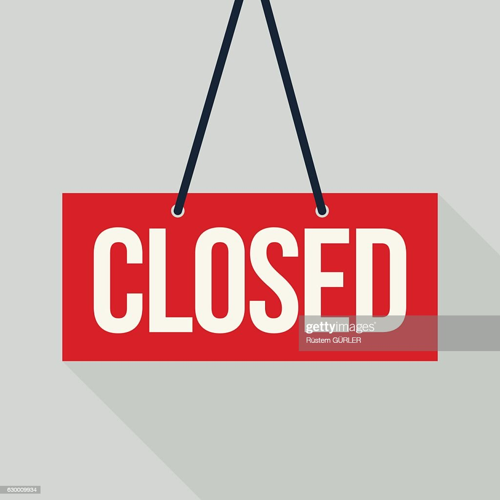Red closed sign : stock illustration