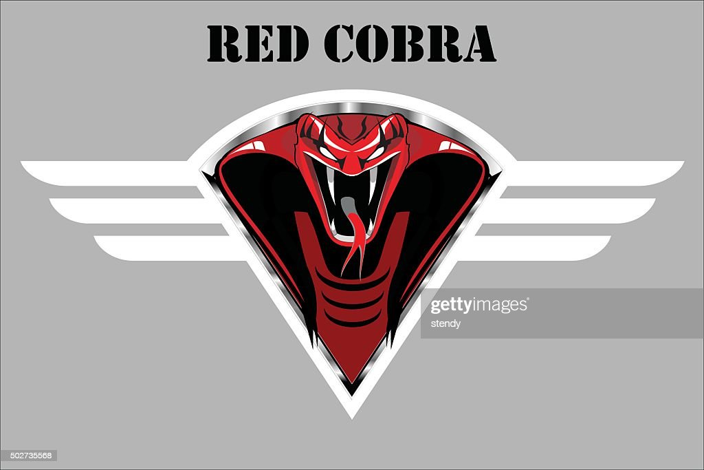 red cobra on the white winged metallic shield.