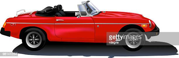 Red Convertible Sports Car - vector
