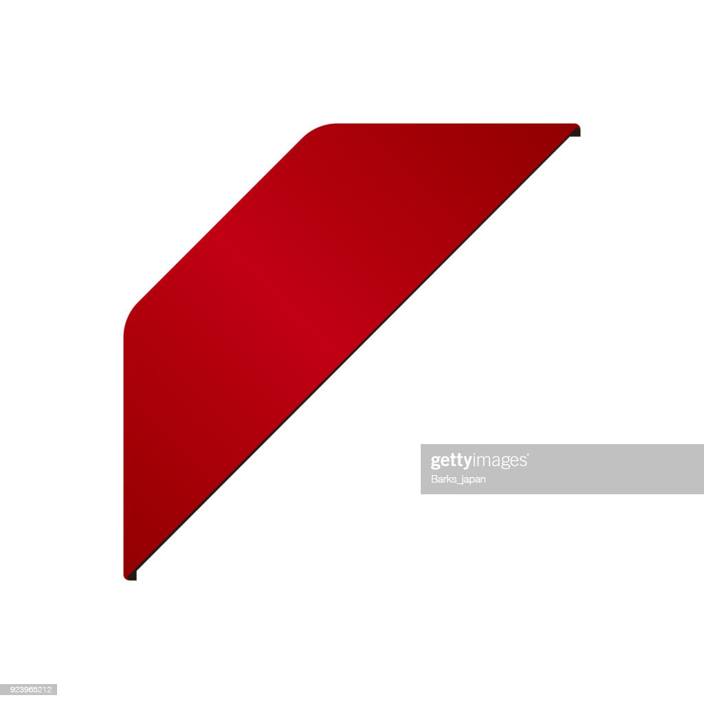 red corner ribbon