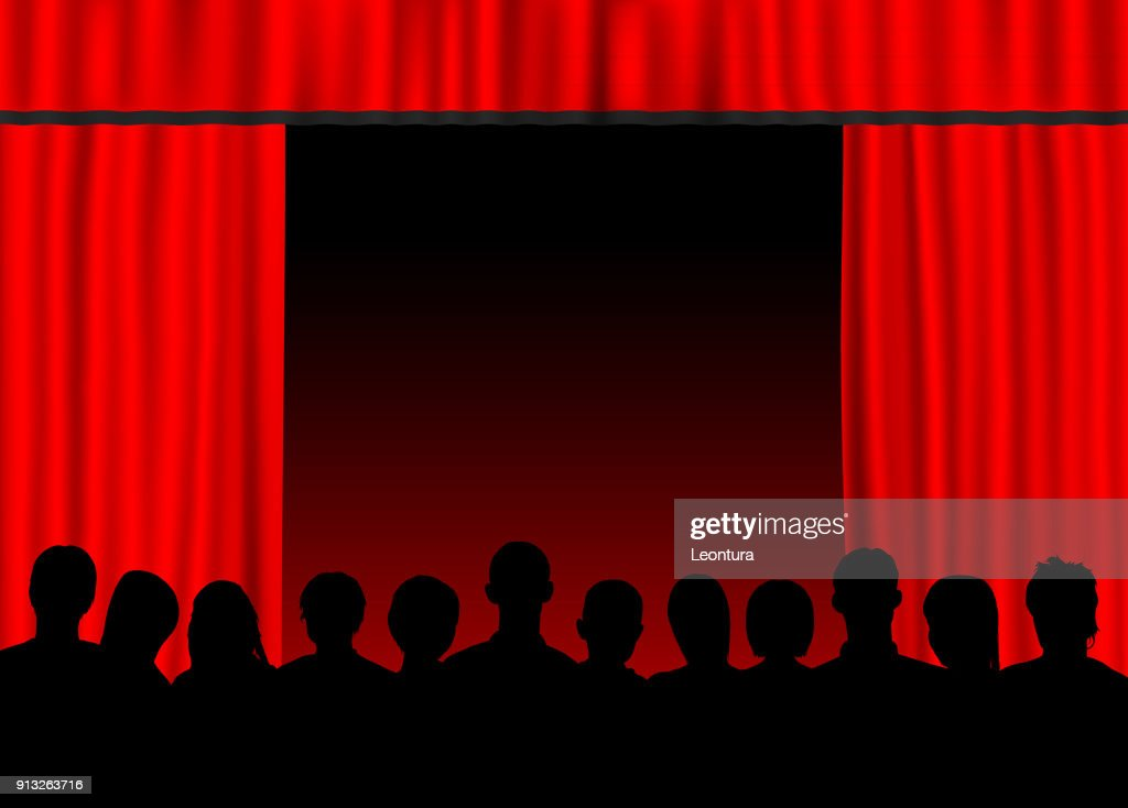 Red Curtain : stock illustration