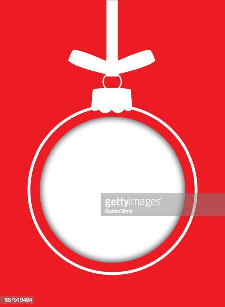red cut out christmas ornament - hanging stock illustrations