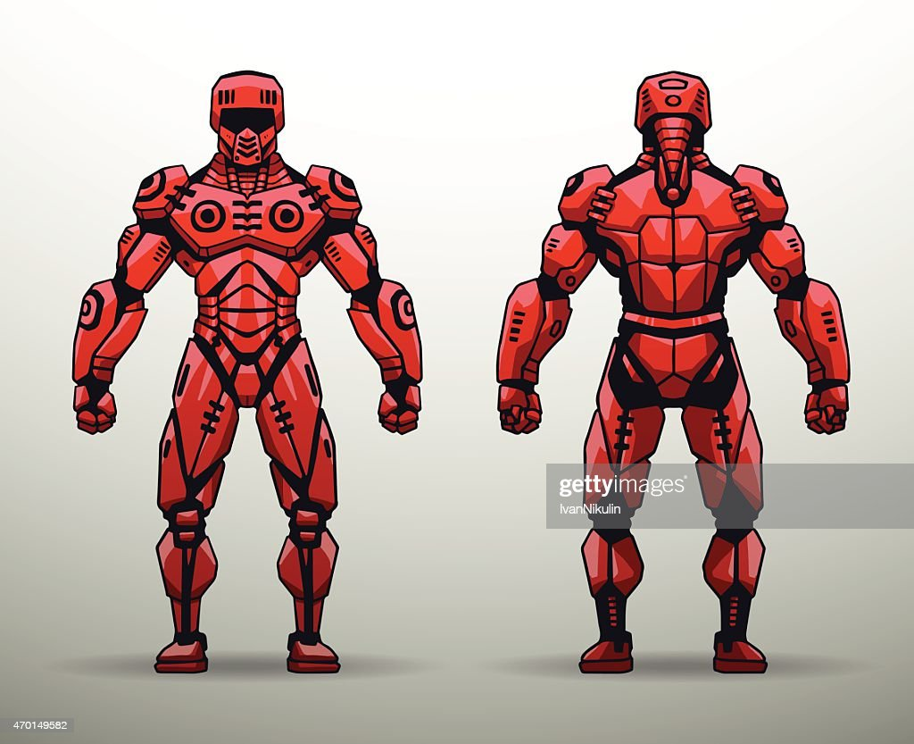 Red Cyborg soldier