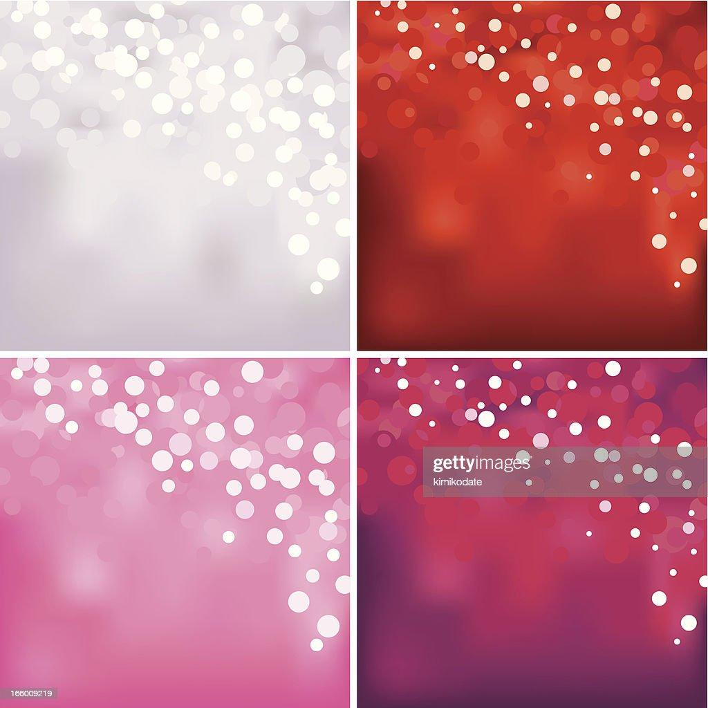 Red defocused lights background set