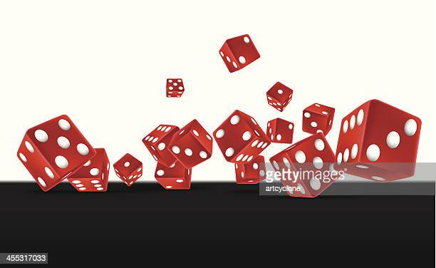 red dices - dice stock illustrations