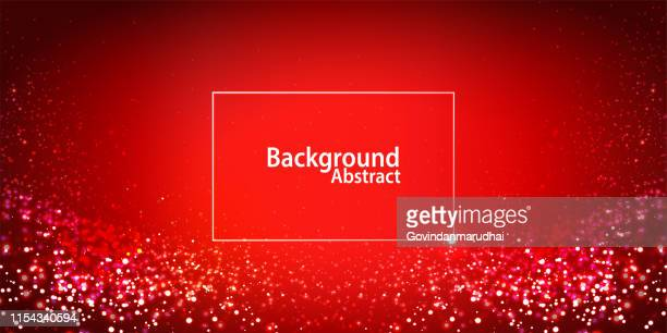 red digital particles glowing - star field stock illustrations