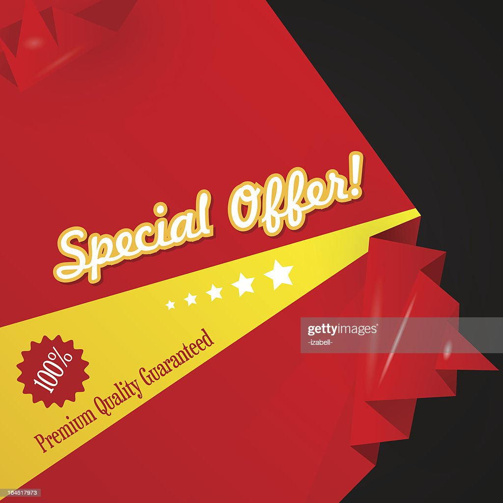 Red discount abstract origami background