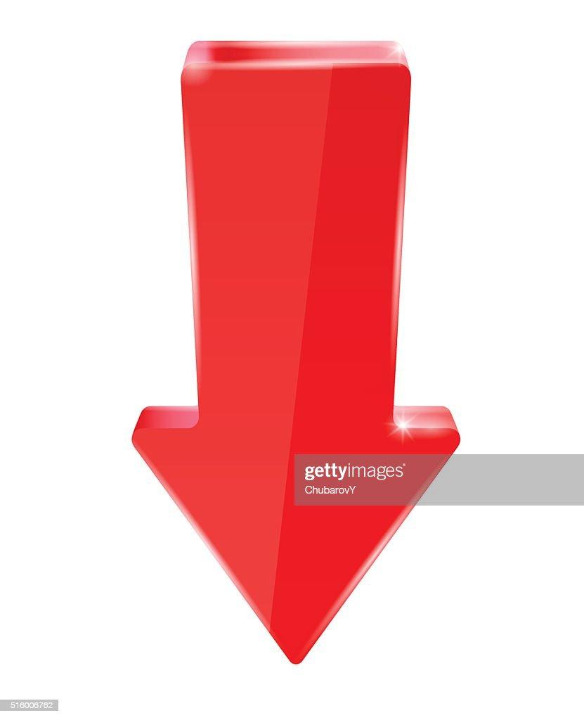 Red down arrow