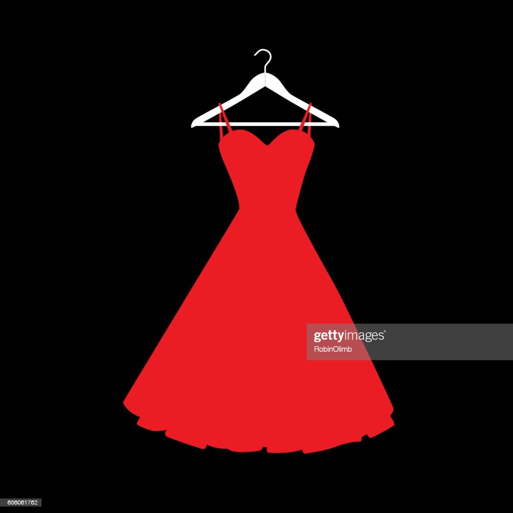 Red Dress On Hanger Icon