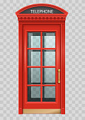 Red English telephone booth