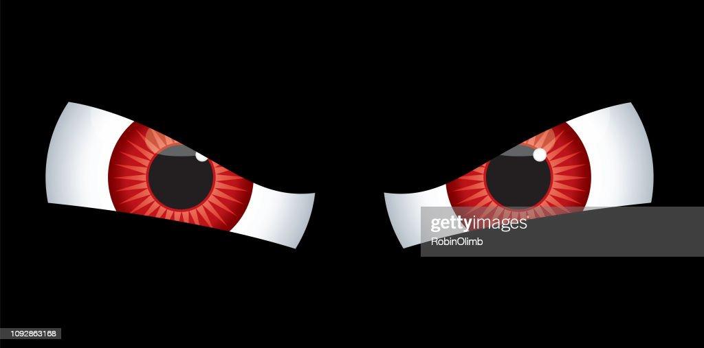 Olhos vermelhos do mal : Ilustração
