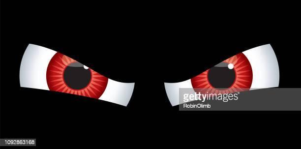 ilustrações, clipart, desenhos animados e ícones de olhos vermelhos do mal - olho