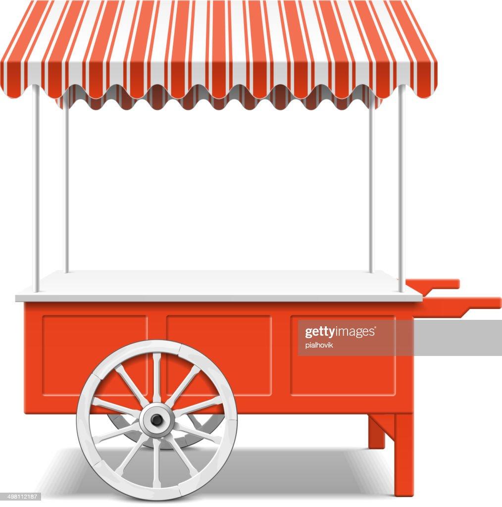 Red farmer's market cart
