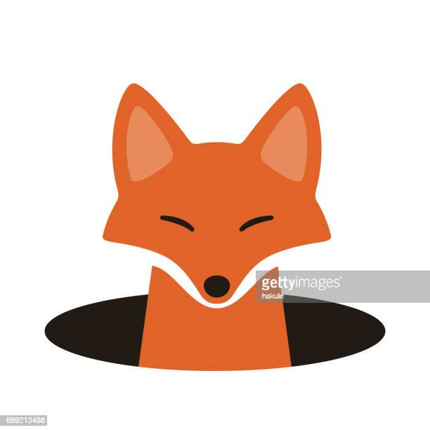 Illustrations et dessins anim s de renard getty images - Dessin tete de renard ...