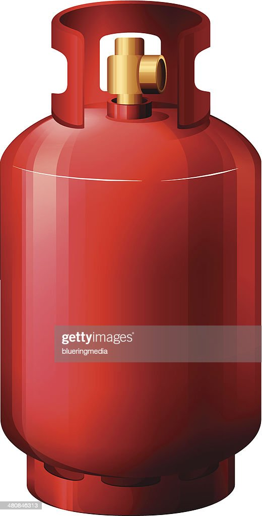 Red gas cylinder