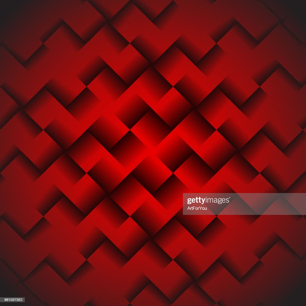 Red Geometric Background with Squares - Abstract Wallpaper