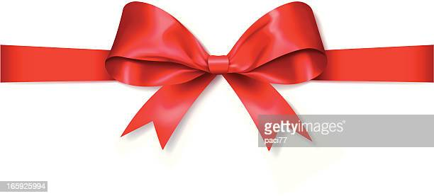 red gift bow (vector) - aids awareness ribbon stock illustrations