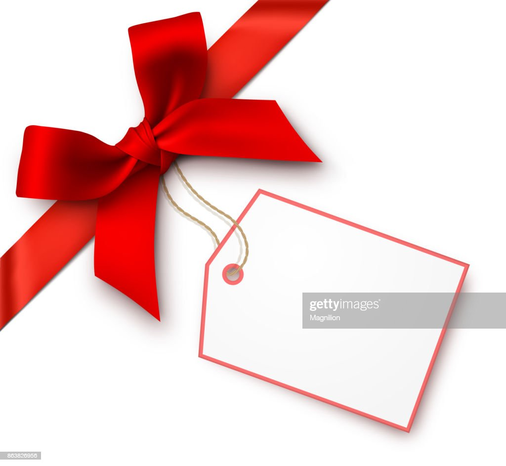 Red Gift Bows with Tag