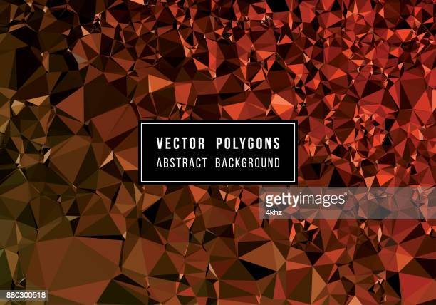 Rode glinsterende veelhoek vectoren abstracte achtergrond