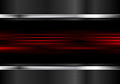 Red glowing stripes and metallic background
