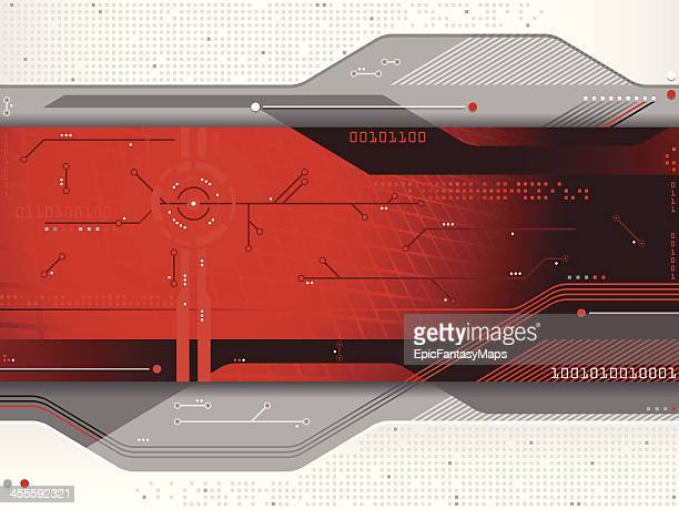 Red gray and white futuristic background