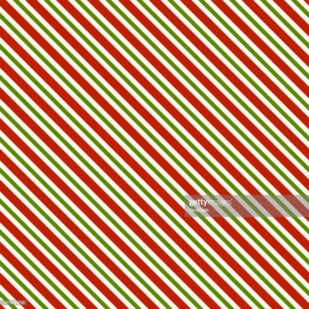 赤緑と白の対角線 - シームレスなパターンの背景 : ストックイラストレーション
