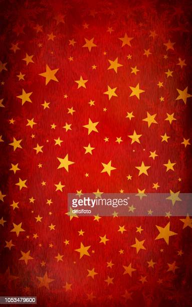 red grungy vector starry background - rustic stock illustrations