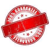Red guarantee stamp.