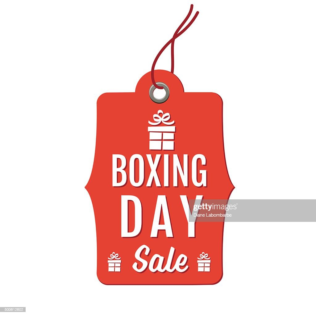 Red Hanging Boxing Day Holiday Sale Tag