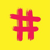 Red Hash on yellow