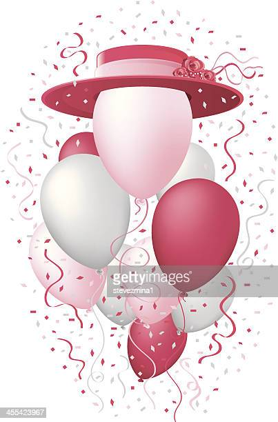 Red Hat Society Celebration Balloons