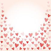 Red  heart on white background. wedding Valentine's Day celebration concept.