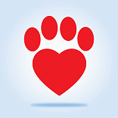 Red Heart Paw icon