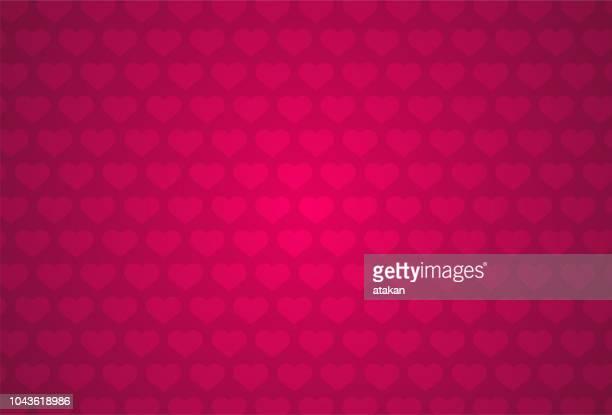 red heart shape pattern - valentine card stock illustrations