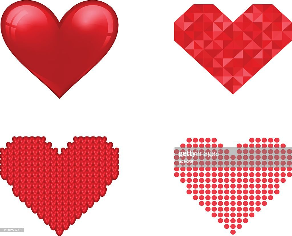 Red heart vector icon : Vector Art