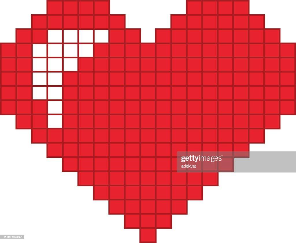 Rojo corazón vector icono : Arte vectorial