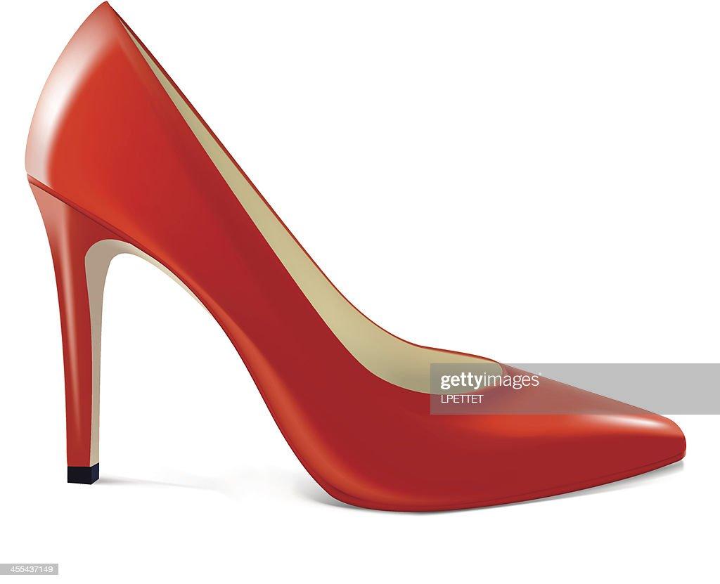 Red High Heel - Vector Illustration : Stock Illustration